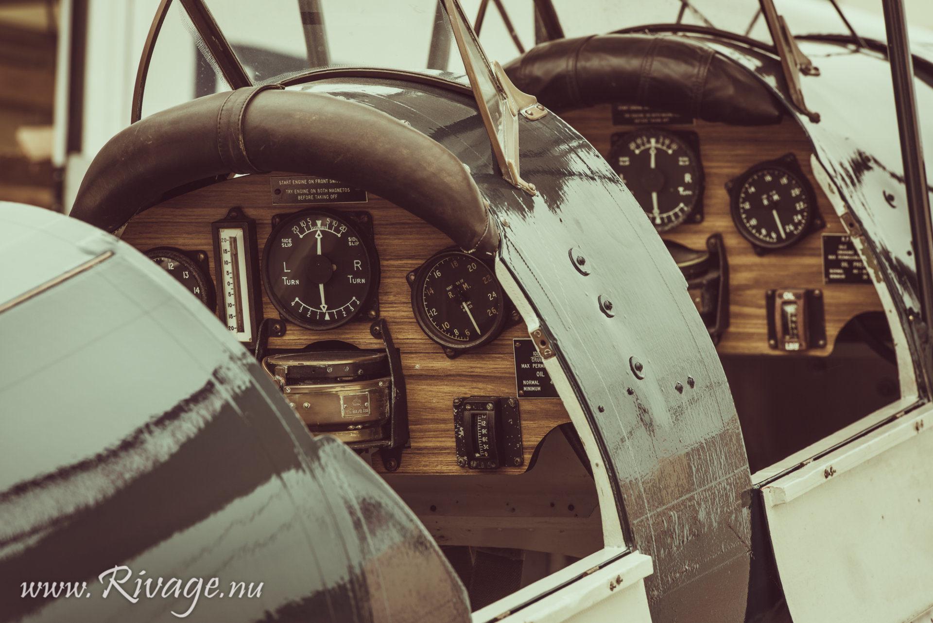 cockpit vintage dubbeldekker